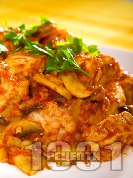 Пилешки гърди с гъби - снимка на рецептата